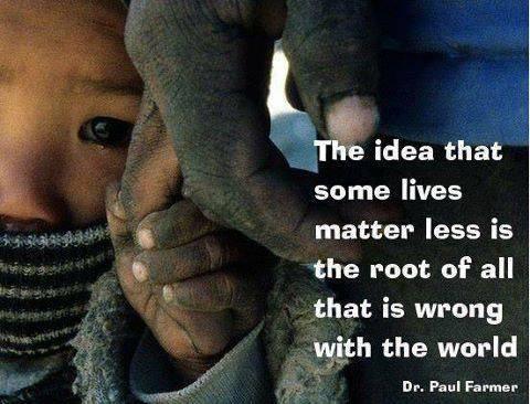 Roten till allt ont är att tro att en del människor är mindre värda än andra.